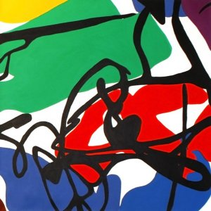 'Ribbon': Original painting by Jazamin Sinclair