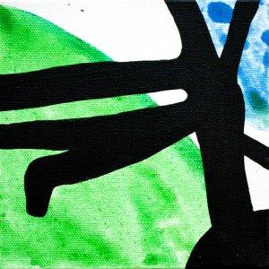 Improvathon2012, No. 16. Cheese Plant 2; Acrylic On Canvas; £33.50; 15cm x 15cm