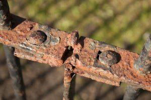 Rusty Fence: Digital Photograph; Limited Edition A4 Digital Print (1/15); £25.00 Unframed/ £40.00 Framed. Framed size: 43cm x 33cm.