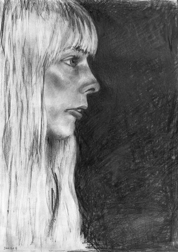 Joni; Pencil On Paper; Original Not For Sale. Limited Edition A4 Digital Prints (1/100) available; £25.00 / £40.00 FRAMED. (Framed size: 43cm x 33cm). Other sizes available, please enquire!