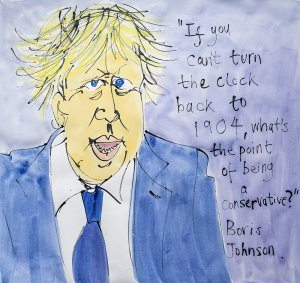 Boris Johnson on Conservative policy (by Jazamin Sinclair)