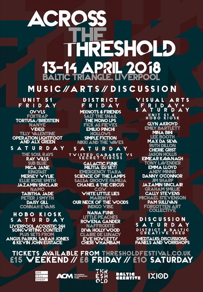 Across The Threshold: Full Line Up