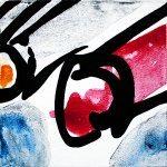 Improvathon2012, No. 29. Pens 2; Acrylic On Canvas; £33.50; 15cm x 15cm.