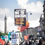 Liverpool protesting against the Neo-Nazi Fascist 'White Man March'
