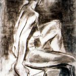 Seated woman by Jazamin Sinclair