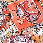 Ketchup, sunglasses, lip balm and iPhone by Jazamin Sinclair