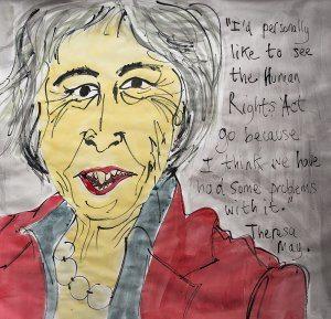 Theresa May on the Human Rights Act (by Jazamin Sinclair)
