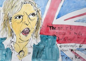 Theresa May on Immigration (by Jazamin Sinclair)